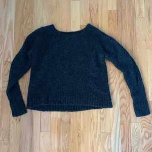American Eagle Grey Fuzzy Sweater